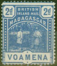 Madagascar 1895 2d Blue SG57 V.F Very Lightly Mtd Mint