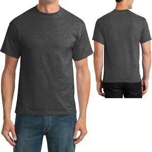 Mens Tall T-Shirt 50/50 Cotton Poly Tee LT, XLT, 2XLT, 3XLT, 4XLT NEW