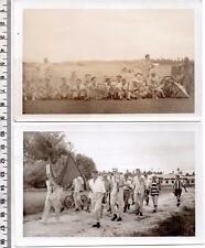 Group of Guys on a Crazy Day Out x 2 BFLT - Original Vintage Photographs