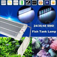 30-80cm 24/36/48 LED 5730 Aquarium Fish Tank Light Full Spectrum Over-Head Lamp