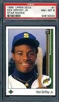 Ken Griffey Jr PSA NM MT 8 1989 Upper Deck Rookie