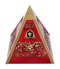 Black Forest Modern Art Cuckoo Clock Pyramid red NEW