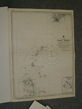 Vintage Admiralty Chart 1392 China - Pohai Strait 1910 edition