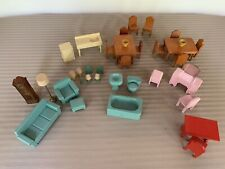Lot of Vintage 1930's Dollhouse Furniture & Accessories/Wood Furniture/Unbranded