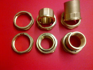 """CENTRAL HEATING PUMP 1"""" X 11/2"""" UNIONS 23MM 43MM BRASS PUMP NUTS"""
