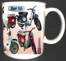HONDA C50, C70, C90 SUPER CUB CLASSIC MOTORBIKE MUG. LIMITED EDITION.
