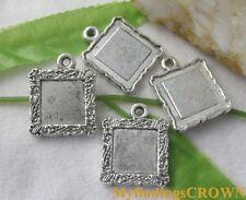20pcs Tibetan Silver square picture frame charms FC1916