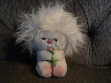 Vintage Dakin Frou Frou white pink plush