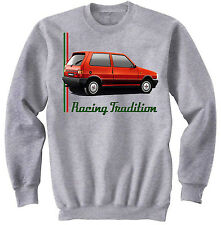 FIAT UNO TURBO IE INSPIRED - NEW GRAPHIC GREY SWEATSHIRT S-M-L-XL-XXL