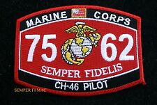 MOS 7562 CH-46 PILOT PATCH US MARINES PIN UP COIN WOW USS FMF GIFT