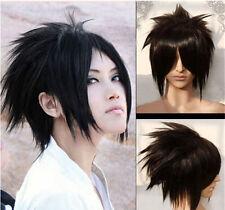 Straight Anime Cosplay Short Uchiha Sasuke Full Hair Black Fashion Costume Wig