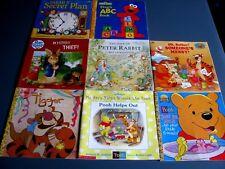 LOT OF 8 CHILDRENS PAPERBACK BOOKS PETER RABBIT, POOH, SESAME STREET