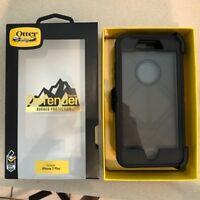 OtterBox Defender iPhone 7 Plus iPhone 8 Plus Hard Shell Case w/Belt Clip Black