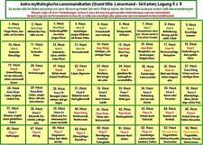 Lerntafel Häusertabelle/Häuserlegung Grand Mlle. Lenormand 54 Lenormandkarten