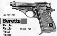 Beretta Model 70 Pistol Instruction and Maintenance Manual