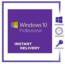 Microsoft Windows 10 Pro Professional 32 64 bit LICENSE KEY INSTANT Delivery