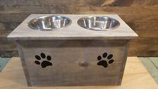 MANY COLOR OPTIONS Pet-safe raised dog bowl stand feeder handmade large wood