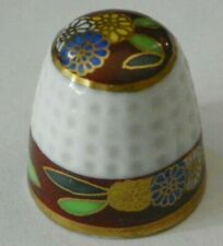 CLASSIC HEREND <HANDPAINTED HUNGARY> PORCELAIN THIMBLE