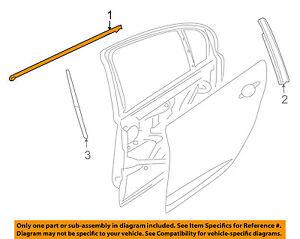 Pontiac GM OEM G8 Rear Window/Door-Belt Molding Weatherstrip Right 92277518