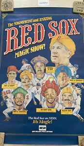 Vtg 1988 Boston Red Sox Joe Morgan Magic Poster Mike Greenwell Roger Clemens 80s