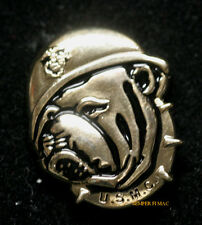 BULLDOG HAT LAPEL PIN US MARINES USMC MASCOT CHESTY DEVIL DOG VETERAN GIFT WOW