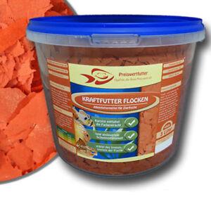 Kraftfutter Farbfutter Flocken 3 Liter Eimer 480 g Fischfutter Futter Fische