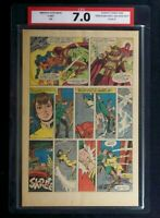 X-Men #49 CPA 7.0 Single page #7 1st Page app. of Lorna Dane