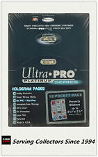 "Ultra Pro Platinum 12 Pocket Pages 2.5""x2.25"" Factory box(100)- AFL Stickers ++"