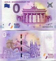 2018 BERLIN Brandenburg Gate Tor Germany 0 Euro Souvenir Banknote