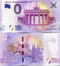 2018 BERLIN  Brandenburg Gate Tor Germany 0 Euro Souvenir Banknote Just Released