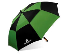 "WeatherProof 60"" Double Canopy Fiberglass Auto Jumbo Folding Golf Umbrella EC"