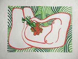 "EDWINA SANDYS MBE b1938 Artist Proof LITHOGRAPH ""Green Nude"" TATE 1972"