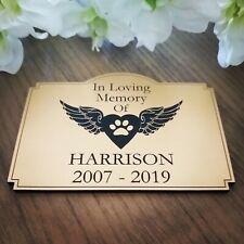 Personalised Pet Memorial Plaque Grave marker Garden Memorial Urn name plate