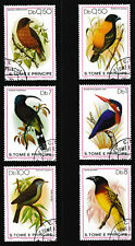 1979 São Tomé 'Kingfisher/Bishop/Sunbird etc' Birds Stamps set of 6 - CTO/Fine