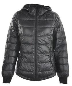 adidas Women's Padded Jacket Neo Utility Full Zip Down Jacket - Black - New