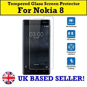 For Nokia 8 TA-1004 TA-1012 100% Genuine Tempered Glass Screen Protector Gorilla