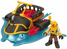 Fisher-Price Imaginext Captain Nemo & Stingray With Action Figure New
