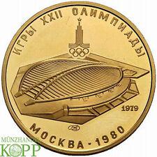 R649) RUSSLAND 100 Rubel 1979 - Olympiade Moskau - Velodrom - Gold