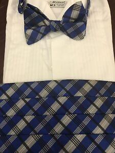 Men's Plaid Cummerbund & Bow tie Set, Soft Packed To Save On Shipping.