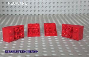 3747 LEGO®  4x Schrägstein invers negativ 33° 2 x 3 - rot - 4500462