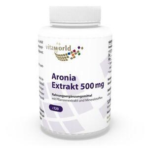 Vita World Aronia Extrakt 500mg 120 Vegi Kapseln Apfelbeere