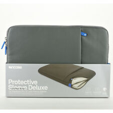 "Incase MacBook Pro 15"" Protective Sleeve Deluxe Leather Pouch Case Gray Blue NEW"