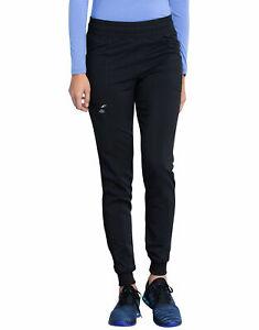 NEW Dickies Balance Mid Rise Jogger Scrub Pants Black Joggers DK155 Womens Small