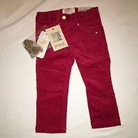 Mayoral Baby Red Velvet Pants 12 Months NWT