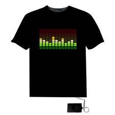 SOUND ACTIVATED FLASHING ROCK DISCO EQUALIZER SHORT SLEEVE LED T-SHIRT ADMIRING