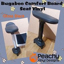 bugaboo komfort wheeled board sitz pole vorgestanzten vinyl-schwarz glänzend