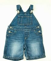 Baby Gap Denim Jean Overall Shorts 12-18 Months Toddler Shortalls Light Wash
