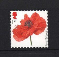 POPPY/FIONA STRICKLANDS/FIRST WORLD WAR 1914/PLANTS/GB 2014 UM MINT STAMP