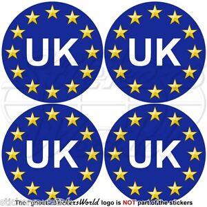 EUROPEAN UNION-UK Roundels Europe-United Kingdom EU-British 50mm Stickers x4