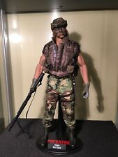 """1/6 Scale Hot Toys MMS73 Private Billy Sole Predator RARE 12"""" Action Figure"""